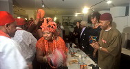 Edo Community in Frankfurt welcomed Mr & Mrs Ejinaka with dance and essence