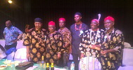 John Ejinaka (Amb.) (left) with Igbo Elders at New Yam Festival (NYF) 2016 Frankfurt Germany